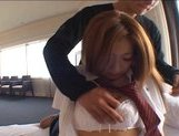 Japanese AV model gets her big titties fucked picture 13