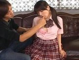 Japanese AV model in her schoolgirl suit gets a hard fucking picture 15