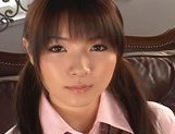 Japanese AV model in her schoolgirl suit gets a hard fucking