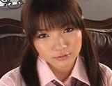 Japanese AV model in her schoolgirl suit gets a hard fucking