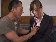 Lusty teacher Yuu Namiki in sexy pantyhose rides cock
