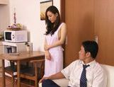 Cute milf Kaori Saejima toy inserting pleasure picture 1