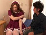Sexy Asian maid in fancy dress Ai Sayama enjoys pussy fucking picture 14