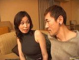 Mature Asian model is into bukkake