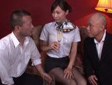 Sexy japanese Miki Horiuhi gets nailed in threesome picture 7