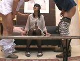 Naughty chick Norika Serizawa enjoys double blowjob picture 14