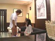 Naughty chick Norika Serizawa enjoys double blowjob