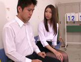 Pretty Japanese teacher Natsume Inagawa gets pussy creamed
