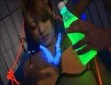 Risa Tsukino Naughty Asian chick tied and lubed
