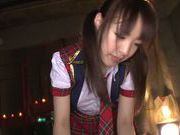 Gorgeous Japanese teen Iroha Sagara engulfs cock in POV