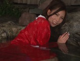 Rin Sakuragi finger fucking her pussy in the water picture 11