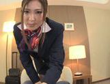 Yuna Shiina is a cock sucking stewardess picture 1