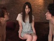 Charming teen Saya Niiyama is involved to group sex