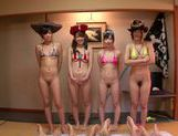 Doggy-style group action with Asian milf Uta Kohaku