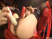 Mihiro Naughty Asian doll is tied up and guys tease her pussy