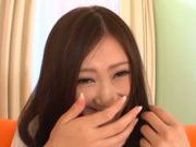 Miu Nagino Asian chick fondles her hairy pussy