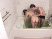 Risa Tuskino Hot Asian doll shows off her body in the shower