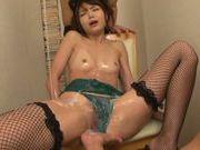 Megumi Shino exposes her juicy and wet body