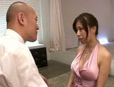 Busty Chihiro Akino enjoys large hard cock picture 8