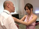 Busty Chihiro Akino enjoys large hard cock picture 9