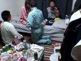 Horny Ai Kiyuu gets banged by three horny men picture 11