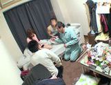 Horny Ai Kiyuu gets banged by three horny men picture 12