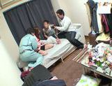 Horny Ai Kiyuu gets banged by three horny men picture 14