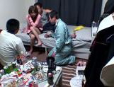 Horny Ai Kiyuu gets banged by three horny men picture 6