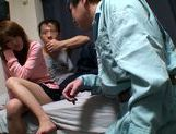 Horny Ai Kiyuu gets banged by three horny men picture 7