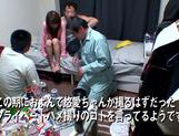 Horny Ai Kiyuu gets banged by three horny men picture 8