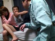 Horny Ai Kiyuu gets banged by three horny men