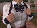 Ayumi Kimino Asian doll in school uniform picture 12