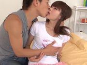 Hot chick Azu Hoshitsuki getting a very nice rear fucking