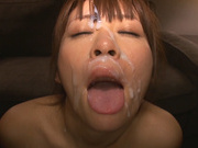 Horny busty Asian hottie gets excited by threesome sex gamescute asian, japanese sex}