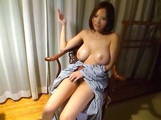 Classy Japanese milf with big boobs plays with sex toys