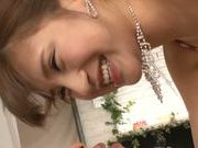 Fancy Japanese AV model Anna Anjo enjoys doggystyle fuck