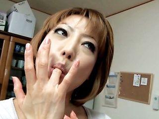 Pretty Reiko Kagami amazing mature Japanese babe