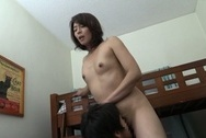 Kinky mature Japanese teacher Hisae Yabe gives a handwok and sucks cockbig round tits, big tits sex, huge tits