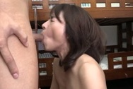 Kinky mature Japanese teacher Hisae Yabe gives a handwok and sucks cockbig tits sex, big tits porn