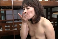 Kinky mature Japanese teacher Hisae Yabe gives a handwok and sucks cockasian boobs, big tits boobs