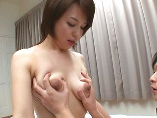 Kinky mature sweetie Kumi Kanzaki rides and engulfs dick