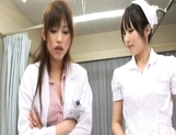 Rika Nagasawa and Mao Sakurai Naughty Asian nurses make creampie clinic picture 9