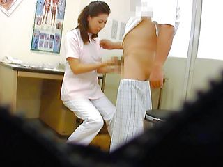 Sexy nurse gets filmed when sucking cock