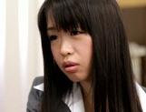 Sexy Japanese milf Kaho Mizuzaki moans as she fucks hard cock picture 13