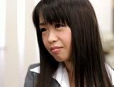 Sexy Japanese milf Kaho Mizuzaki moans as she fucks hard cock picture 14