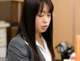 Sexy Japanese milf Kaho Mizuzaki moans as she fucks hard cock picture 15