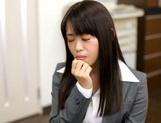 Sexy Japanese milf Kaho Mizuzaki moans as she fucks hard cock