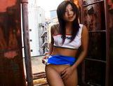 Nasty Asian Teen Marin Sucking Cock in a Back Alley like a picture 11
