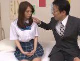 Rui Tsukimoto endures deep throat blowjob