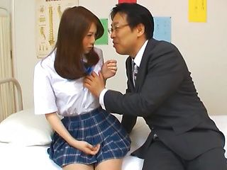 Rui Tsukimoto endures deep throat blowjob